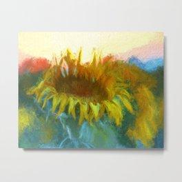 Sunflower Glow Metal Print