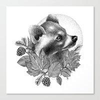 raccoon Canvas Prints featuring RACCOON by Thiago Bianchini