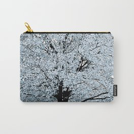 TREES WHITE ABSTRACT Carry-All Pouch