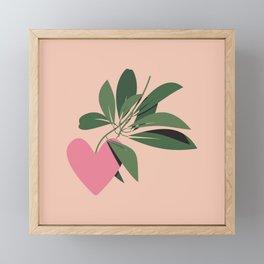 The Heart Plant - Pink Framed Mini Art Print