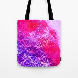 Pinky Purple Fanning Tote Bag