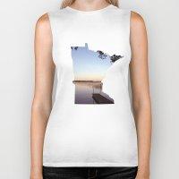 minnesota Biker Tanks featuring Lake Minnesota by Keaton