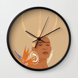 Don't Ever Touch My Hair Wall Clock