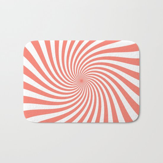 Swirl (Salmon/White) Bath Mat