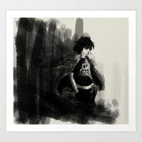 nico di angelo Art Prints featuring Nico di Angelo by Tonz