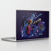 astronomy Laptop & iPad Skins featuring Muse of Astronomy by Jessica Chrysler