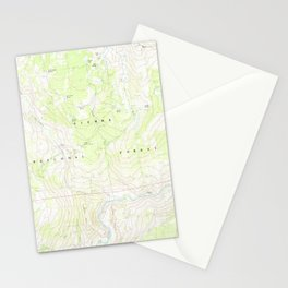 CA Cattle Mtn 289065 1983 24000 geo Stationery Cards