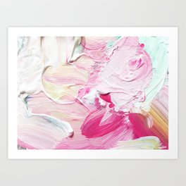 Minty Rose (Abstract Painting) Art Print