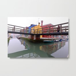Morning In Burano Metal Print