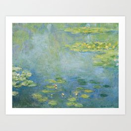 Water lilies by Claude Monet, 1906 Art Print