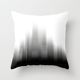 abstract city skyline - Black and white illustration Throw Pillow