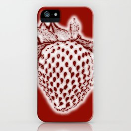 Red Strawberry iPhone Case