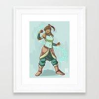 korra Framed Art Prints featuring Korra by beroberos