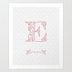 E Scallop: Pink Art Print