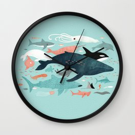 Under the Sea Menagerie Wall Clock
