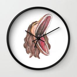 Barbara Maitland Mask Wall Clock