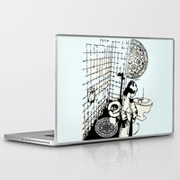 toilet Laptop & iPad Skins featuring TOILET CLEANING by Sofia Youshi