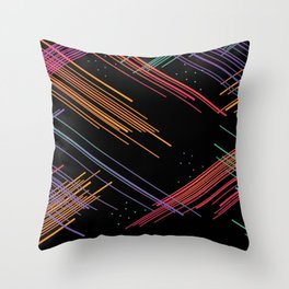 Colored Lines Throw Pillow
