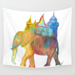 Elephant Carrying the Castle Wall Tapestry