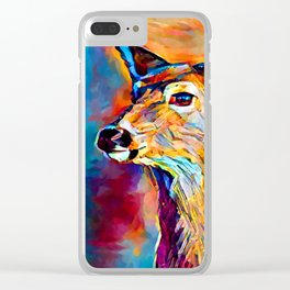White-tailed Deer Clear iPhone Case
