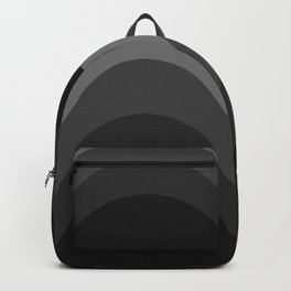 Four Shades of Black Curved Backpack