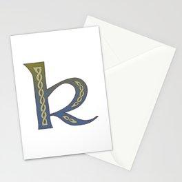 Celtic Knotwork Alphabet - Letter K Stationery Cards
