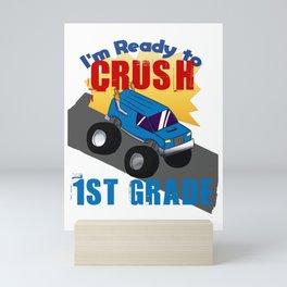 School start 1st grade Truck Car Boy Gift Mini Art Print
