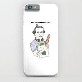 West Coast Immanuel Kant iPhone Case