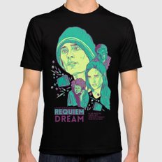 Requiem For A Dream Black LARGE Mens Fitted Tee
