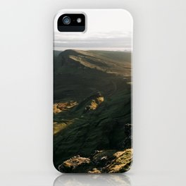 The Quiraing - scotland, isle of skye, landscape, nature, mountains iPhone Case
