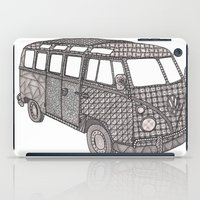 volkswagon iPad Cases featuring Tangled VW Bus - side view by Cherry Creative Designs