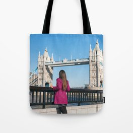 Woman in London Tote Bag