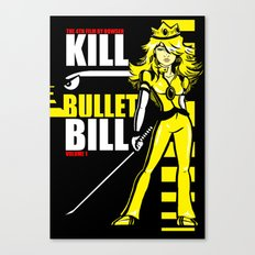 Kill Bullet Bill (Black/Yellow Variant) Canvas Print