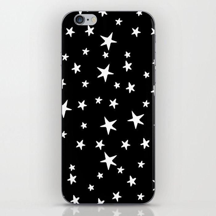 Stars - White on Black iPhone Skin