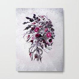 Skull Red Metal Print