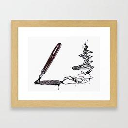 Inkspill Framed Art Print