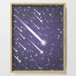 Flying meteors. Ultra violet. Serving Tray