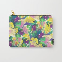 Yellow tropical plam leaves Carry-All Pouch