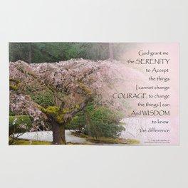 Serenity Prayer Cherry Tree One Rug