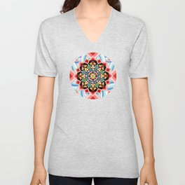 Chinoiserie Waves Unisex V-Neck