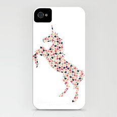 Multi Heart Unicorn iPhone (4, 4s) Slim Case