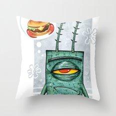 Sheldon James Plankton Jr Throw Pillow