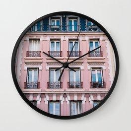 Parisian Buildings Wall Clock