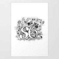S6 Doodle Art Print