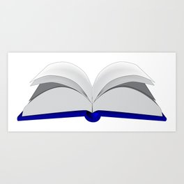 Open Book Art Print