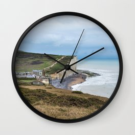 Seven Sisters Cliffs at Birling Gap, East Sussex Wall Clock