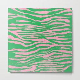 Electric Retro Zebra Stripes 70s (ix 2021) Metal Print