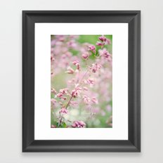 Breathe. Framed Art Print