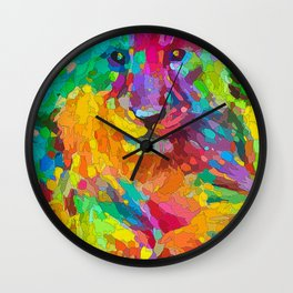 Lionet Colorful Oil Wall Clock