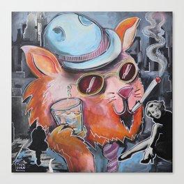 Film Noir Cat Canvas Print